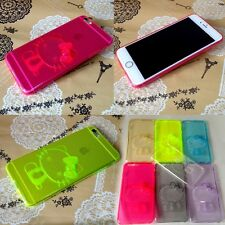 On Sale 3D Cute Transparent Hello Kitty TPU Case Cover for iPhone5/5S6 4.7''5.5'