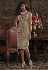 Candlelight Shimmer Dress NEW Midnight Velvet 10 12 14 16 16W 18W Gold Dinner
