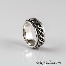 Sterling Silver Celtic Knot Spinner Band Ring for Men 0r Women - Irish Jewelry