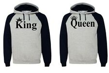 King Queen Hoodie  Couple Hooded Sweatshirt Boyfriend,Girlfriend Hoodie