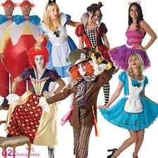ALICE IN WONDERLAND MAD HATTER QUEEN BOOK DAY OFFICIAL ADULT FANCY DRESS COSTUME