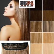 Cheap Long Lengths Clip In Remy Human Hair Extensions One Piece Straight US F478