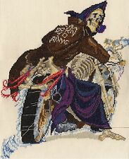 Discworld Pale Rider, Death on his motorbike counted cross stitch kit/chart 14s