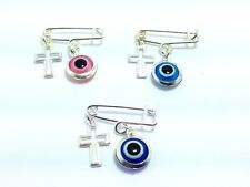 Lucky evil eye safety pin - protection for baby