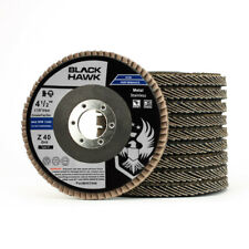 "4-1/2"" x 7/8"" Black Hawk Zirconia Flap Discs T27 4.5"" Sanding & Grinding Wheels"
