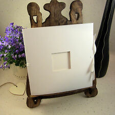 White Square Scrapbook, Ribbon Tie, Card Pages, Photo Hole, Guest Book