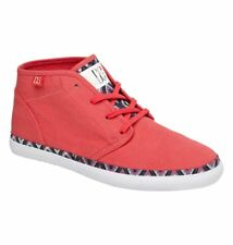 DC SHOES WOMENS GIRLS STUDIO MID LTZ CASUAL SNEAKERS SKATE RED