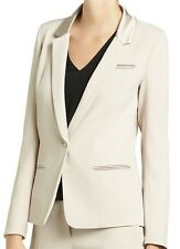 Patrizia Pepe Shifting beige MASCULINE-STYLE JACKET. 2S1072/A1GX. RRP £319.28
