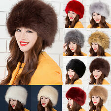 Hot New Fashion Ladies Faux Fox Fur Russian Cossack Style Winter Hat Warm Cap