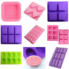 New Silicone Soap Mould Ice Cube Candy Chocolate Cake Jelly DIY Mold Hand Made