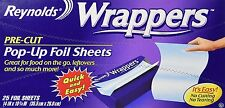 Reynolds Pre-cut Pop-up Foil Sheets Food Wrappers (25 Sheets)