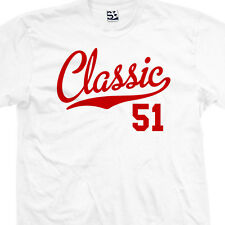 Classic 51 Script Tail Shirt - Birthday Old Man 1951 Gift - All Sizes & Colors