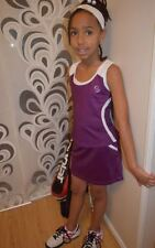 Girls Purple Tennis outfit Skirt/underpants & Top Netball/Hockey 5-14 year old