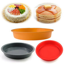 Round Silicone Pizza Baking Mold Pastry Brownie Cake Pie Decorating Dessert Pan