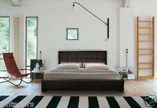 LEATHER BED DOUBLE KING BLACK BROWN WHITE WITH MEMORY FOAM ORTHOPAEDIC MATTRESS