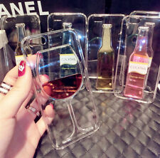 Liquid Quicksand Wine Glass Cup Cocktail Bottle Case Cover for iPhone 5/6/6 Plus