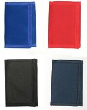 Tri-fold Men Nylon Wallet Velcro Closure & Zipper inside-Black, Navy,Blue, Red