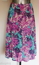 M&S Classic Sizes 8 18 20  Burnout  Print  Flared Panelled Lined Skirt  27L
