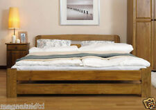 *Wooden Bedroom Furniture*New Super King Size6ft Pine Bed Frame&Slats Oak Colour