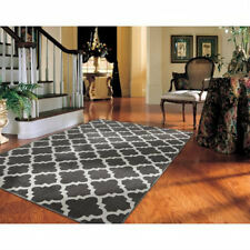 NEW GRAY BLACK DARK AREA RUG Abstract DAMASK Living Room BedRoom Home 5x7 Runner