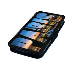 Artsy Paris Text - Printed Faux Leather Flip Phone Cover Case