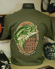Still Kickin Bass Fishing Men's Old Guys Rule T-shirt