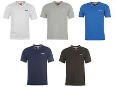 SLAZENGER NEW Men's Running Gym Sports Shirts S, M, L, XL, XXL MULTIPLE COLORS
