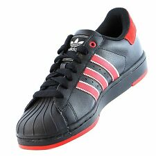 Adidas Mens Shoes Superstar 2 Lite Originals Athletic Sneakers Black Red