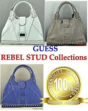 NWT Authentic Prime GUESS Women Handbag REBEL STUD Satchel Bag Tote Ladies Purse
