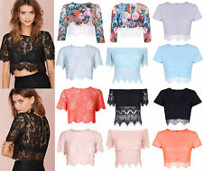 New Eyelash Lace Crop Top Off Shoulder Sexy Women Bralet Bra Party Evening