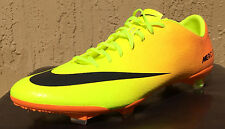 New Nike Mercurial Vapor IX Soccer Shoes Cleats Size 13 Citrus/Volt Size