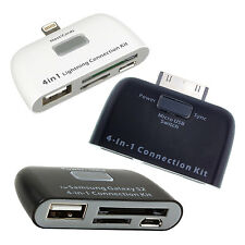 eKIT MICRO SD CARD/ USB & PEN DRIVE READER FOR iPAD/ iPHONE/ TABLET/ SMARTPHONE