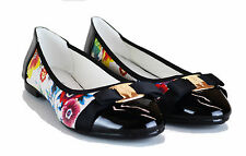 NEW WOMENS FLOWER PUMPS LOW HEELS FLATS BALLERINA SHOES SIZE UK 3,4,5,6,7 & 8