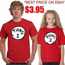 THING 1 THING 2 T SHIRT ALL SIZES ON SALE & FAST SHIPPING Dr.Seuss Thing one two