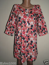 FRENCH CONNECTION PINK FLORAL LOOSE SHIRT DRESS SIZE 8,10,12 NEW