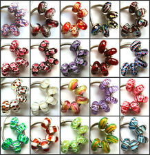 50pcs Wholesale Lampwork Murano Glass Beads Fit European Charm Bracelet NO.13