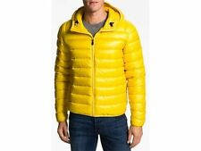 $275 Lacoste Zeste Yellow Lightweight Hooded Puffer Down Mens Jacket New L Large