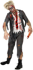 Boys Zombie Costume School Boy Look Suit Style Jacket/Shirt/Pants/Tie Childs NEW