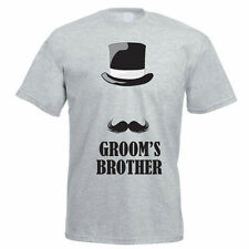 GROOM'S BROTHER - Wedding / Best Man / Novelty / Funny Themed Mens T-Shirt