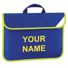Kids Childrens Hi Viz Bound School Library Reading Book Bag With Name Printed On