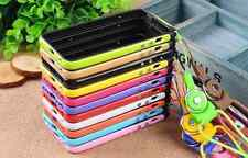 New For iPhone 4/4S 5/5S Lanyard Gel Silicone Protector Soft Shell Case Cover