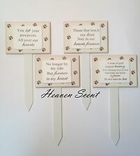Memorial For Pet Dog & Cat Wooden Grave Stick Stake Tribute Plaque Ornament