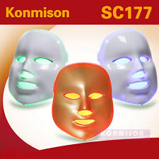 Photon LED Facial Mask Skin Rejuvenation Beauty Therapy 3 Colors Light