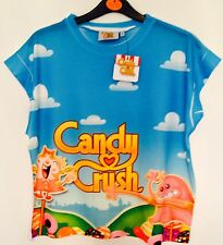 Womens CANDY CRUSH SWEET Cropped T Shirt Licensed Primark Various Sizes