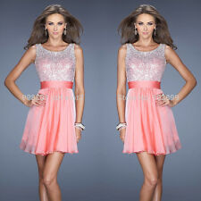 Sequins Short Evening Formal Bridesmaid Wedding Ball Gown Prom Party Dresses