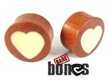 "Bare Bones Pair of Organic Blood Wood Plugs 6G to 7/8"" [Select Your Size]"