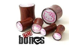 Bare Bones Pair of Organic Blood Wood Plugs 6G to 00G [Select Your Size]