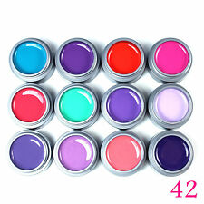 12pcs Pure UV Color Gel Nail Polish Extenstion Manicure System Nail Art Kits 5ml