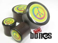 "Bare Bones Pair of Organic Raintree Wood Plugs 1/2"" to 1"" [Select Your Size]"