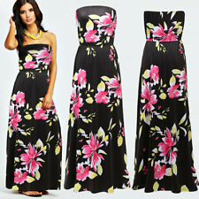 NEW LADIES PARTY FLORAL PRINT LONG MAXI DRESS SUMMER PLUS SIZE 8 10 12 14 16 18